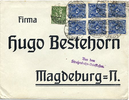 Posted to Magdeburg on 9. January 1923