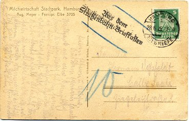 Postcard posted to Halle/Saale on 28. June 1925