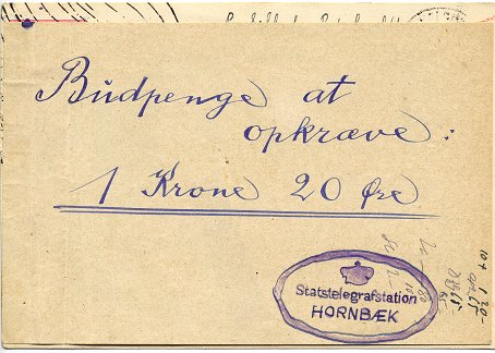 "Foreign express postcard (""Express Auslandspostkarte"") posted to Kildekrog by Hornbaek in Denmark on 14. August 1933"